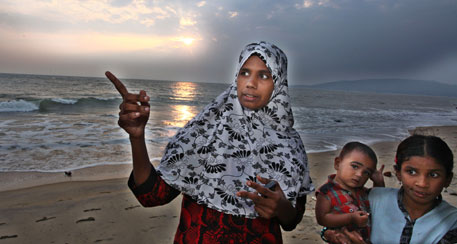 Jazeera had to fight and dissuade her own brothers from working with sand miners before taking her fight forward (Photo by Latheesh, Mathrubhumi)