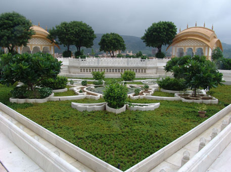 The famous Chameli bagh on terrace of Jal Mahal, after restoration