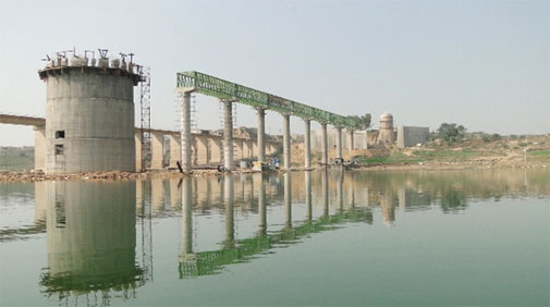The Dholpur lift irrigation project will draw 15 million litres of water from the Chambal River (Photograph: Tarun Nair)