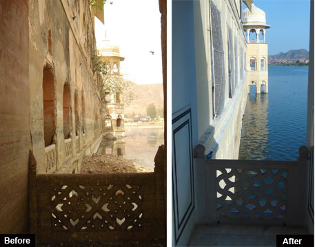 Jal Mahal restoration works are almost complete