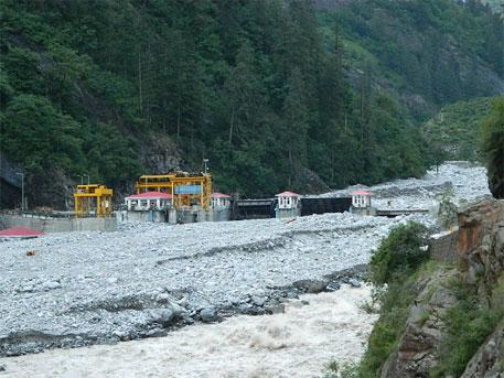 The damaged Vishnuprayag hydroelectric project as on June 26, 2013