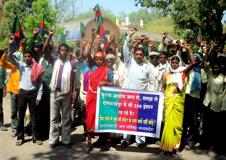 Madhya Pradesh village protests for right to vote