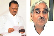 Whistle-blower Vijay Pandhare's expose led to the resignation of deputy chief minister Ajit Pawar (left)
