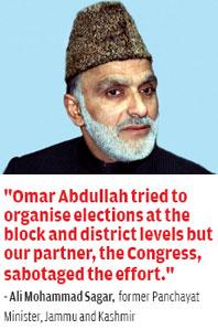 Ali Mohammad Sagar, former Panchayat Minister, Jammu and Kashmir