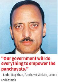 Abdul Haq Khan, Panchayat Minister, Jammu and Kashmir
