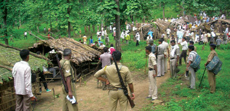 Tribals beaten out of forestland