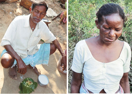 Rango Deogam (left) and Suru Deogam are suffering from a fatal lung disease