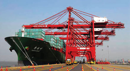 India has on its own modernised its ports and other trade infrastructure