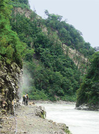 Lohit river valley where Demwe Lower hydel project is proposed. The project awaits MoEF approval