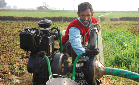 A 3 HP pump consumes a litre of diesel per hour. Bihar is irrigating 10 per cent of its potential