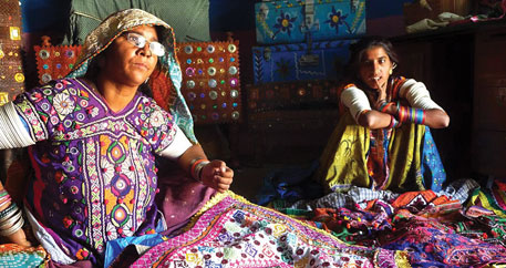 Rabari embroidery in Kachchh, Gujarat