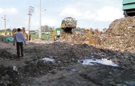 untreated waste on the plant premises