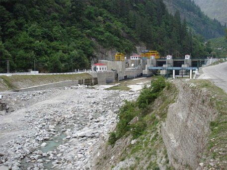 The hydroelectric project before the Uttarakhand flood disaster