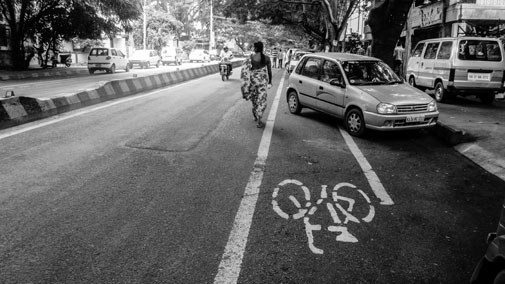 Cities like Mumbai, Lucknow and Bengaluru have abandoned plans of building dedicated cycling lanes. The lanes already built are encroached by cars like on the Delhi BRT