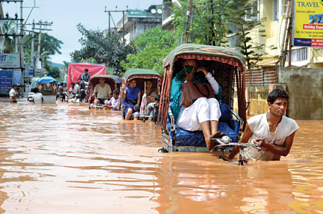 Flash floods in Guwahati