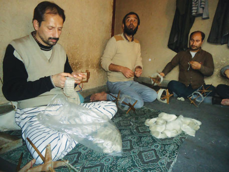 Riaz Ahmad (left), a Srinagarbased weaver, says his income has fallen drastically due to the proliferation of power looms