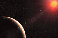 Atmospheric biomarkers are easy to detect in Gliese 581 planetary system