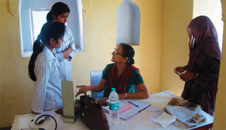There is one doctor per 10,000 people in rural India. WHO says there should be one doctor per 1,000 people