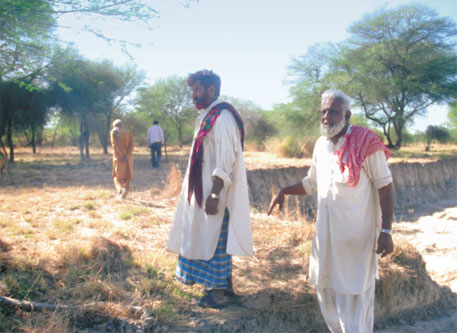 The Maldhari graziers' community of Sargu village has regenerated a patch of the grassland by uprooting the weed and reviving traditional shallow wells