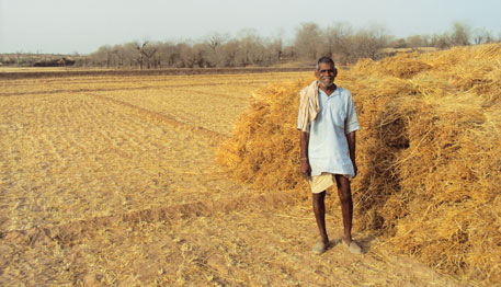 Moolchand, a grazier-turned-farmer in Nivera village, Rajasthan