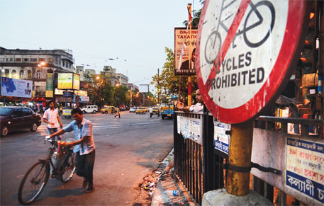 Traffic police have banned cycling on Eastern Metropolitan Bypass without notifying