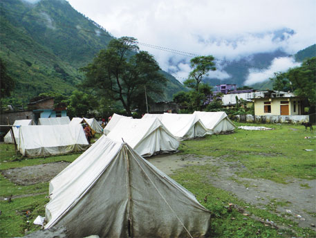 A relief camp in Gothi village