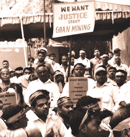 Close to 150,000 people in Goa depend on the mining industry for livelihood