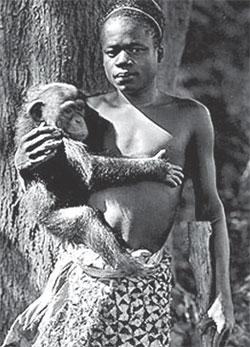 Ota Benga at Bronx zoo in New York