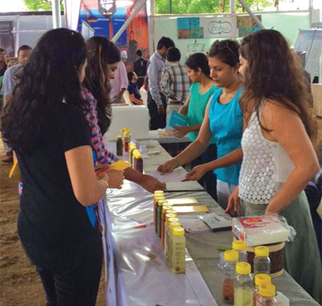 An awareness camp organised by Raw Pressery in Pune in June. Its package of four cold-pressed juices costs around Rs 950