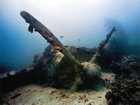 Kawanishi Emily flying boat sunk in Chuuk Lagoon