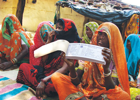 Women who are insured get Rs 5,000 immediately and the remaining amount is handed over within 10-15 days (Photo: Jitendra)