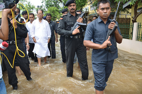 Assam Chief Minister Tarun Gogoi blames floods in Guwahati on the blockage of the natural drainage system