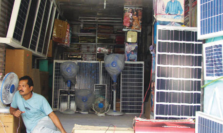 A garment shop in Jandaha, Vaishali, has hoarded the much-in-demand solar panels