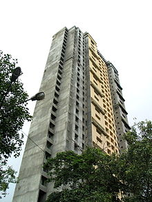 The land grab for Adarsh building forced the resignation of former chief minister of Maharashtra, Ashok Chavan. MoEF ordered its demolition because it violates coastal regulations (photo courtesy Wikipedia)