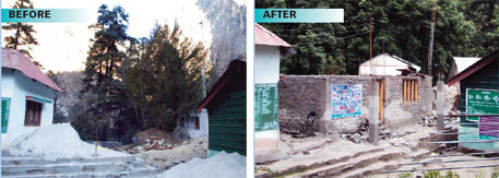 Felling of trees led to construction of a hut for an information centre on the Valley of Flowers
