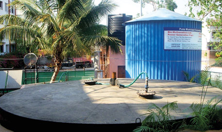 The first municipal biogas plant at Model Colony can process five tonnes of waste in a day