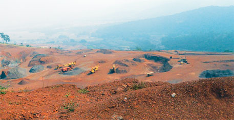 The Commission headed by Justice M B Shah has recommended a cap on the production of iron ore, saying it is absolutely necessary so that future generations would not have to import ore (photo by Sayantan Bera)