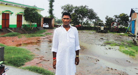 Siddhnath Singh, husband of the mukhiya of Kaithar, keeps six tractors and one SUV on his premises
