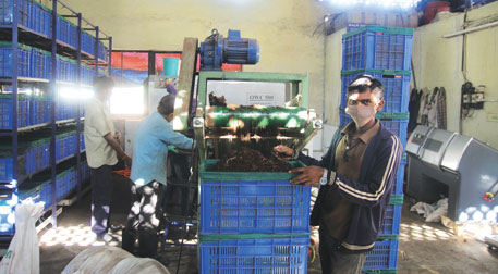 Mechanical vermicomposting plant at Aundh