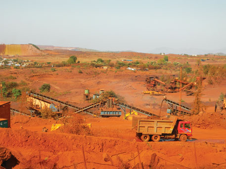At least eight companies have resumed mining in Bellary