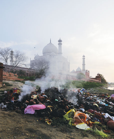 A recent study says carbon particles from biomass burning and vehicles could be discolouring the Taj