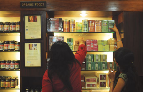 Fabindia's stores across the country stock carefully selected organic products