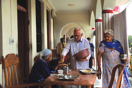 Deserted by family, old-age home residents provide companionship to each other