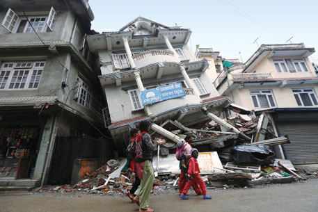 Over 280,000 houses were destroyed in Nepal, rendering at least half a million people homeless