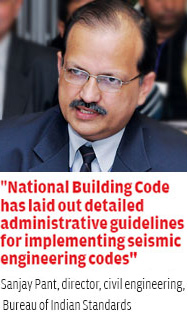 Sanjay Pant, director, civil engineering, Bureau of Indian Standards