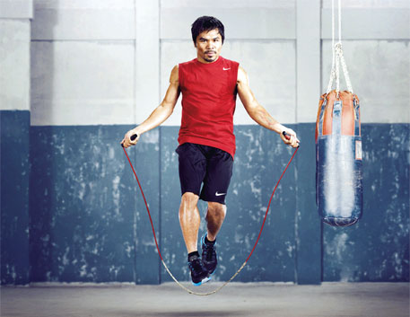 Boxer Manny Pacquiao's T-shirt is made of 100 per cent organic cotton. Nike has been using organic cotton since the 1990s