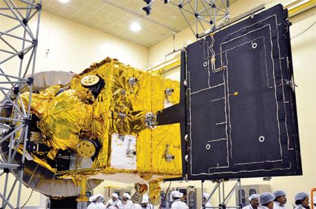The orbiter was assembled in Bengaluru before being taken to Sriharikota
