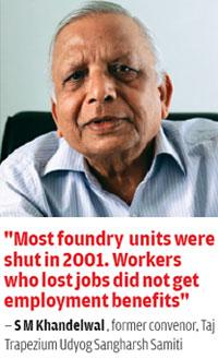 S M Khandelwal , former convenor, Taj Trapezium Udyog Sangharsh Samiti