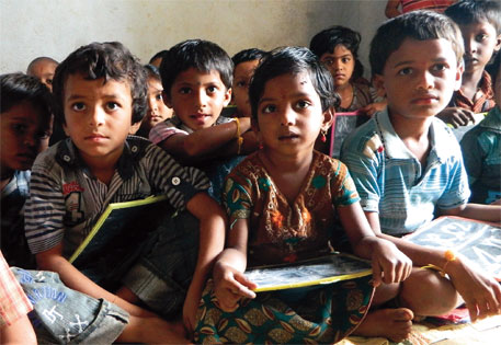 A school in Amrabad block in Andhra Pradesh. Most schools in the block do not have teachers, let alone furniture