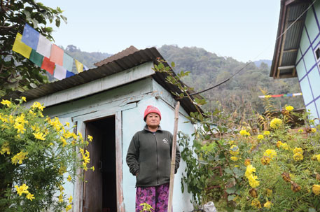 Diki Tamang of Sikkim built a toilet next to her house after her college-going daughter demanded it